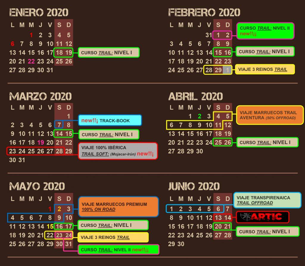 Calendario Enduropark Aras Rural 2020